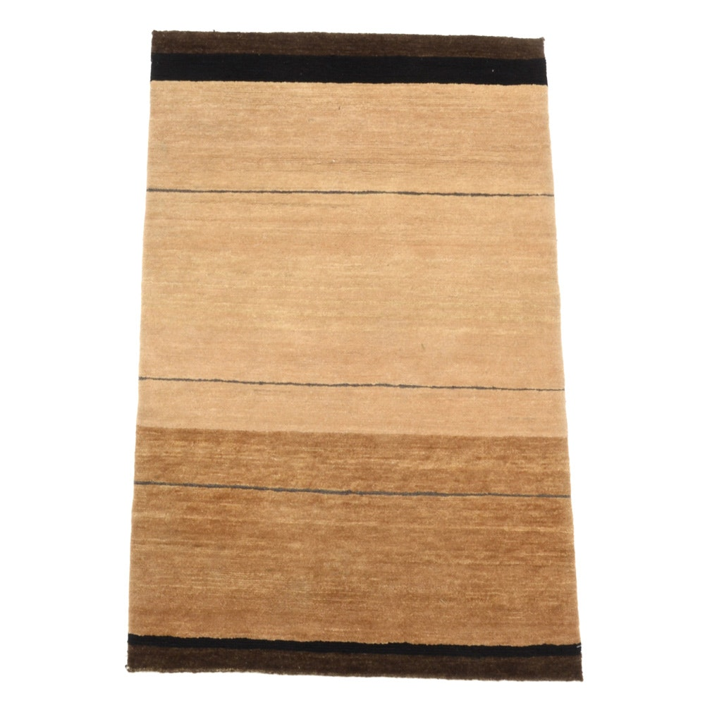Tufenkian Nepali Hand-Knotted Brown Contemporary Wool Rug