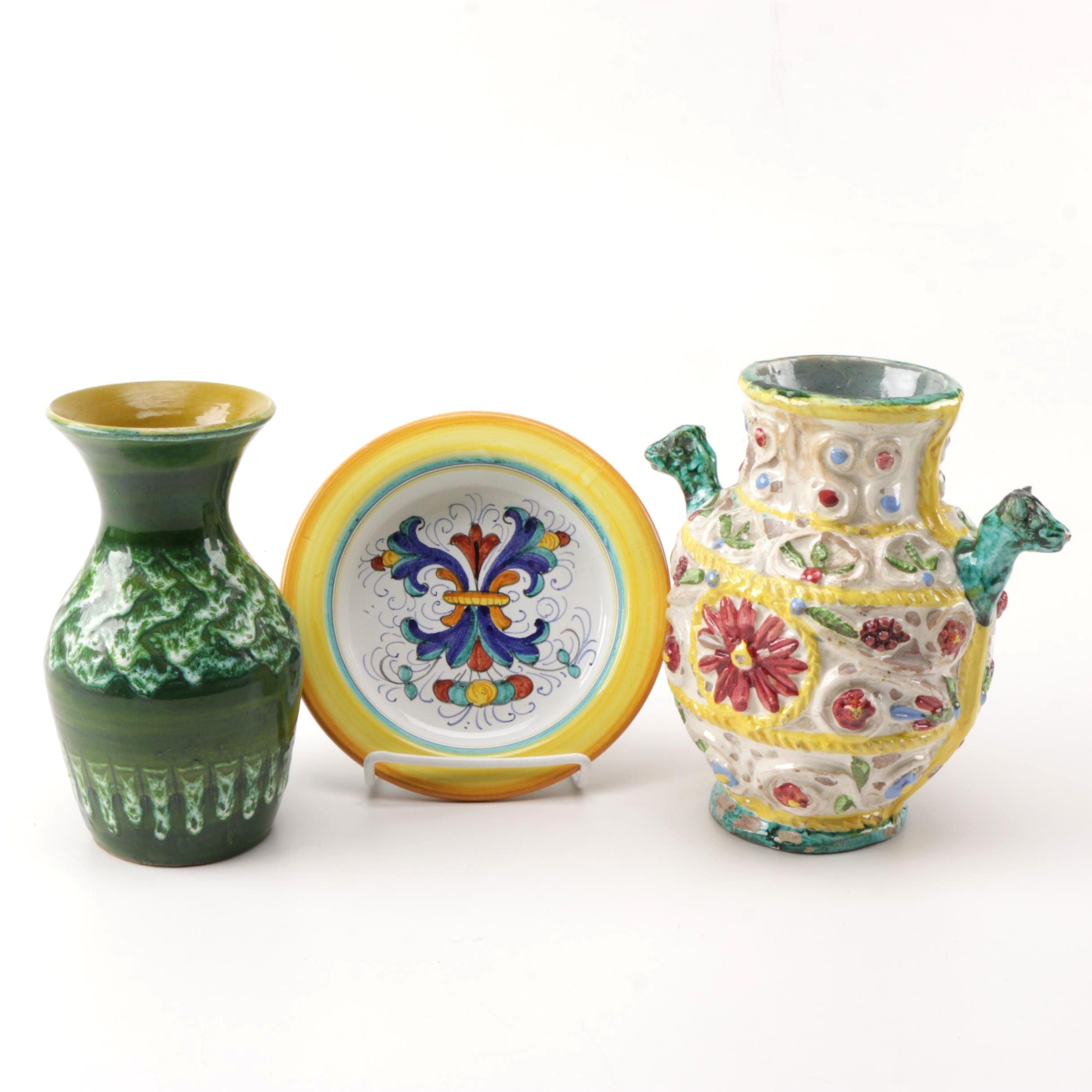 Collection of Italian Handmade Pottery