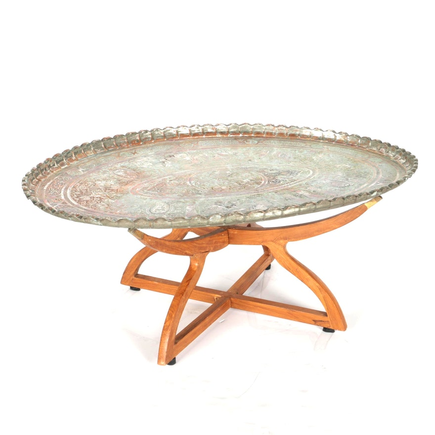 promo code a01ed ed86a Bohemian Wood and Metal Coffee Table