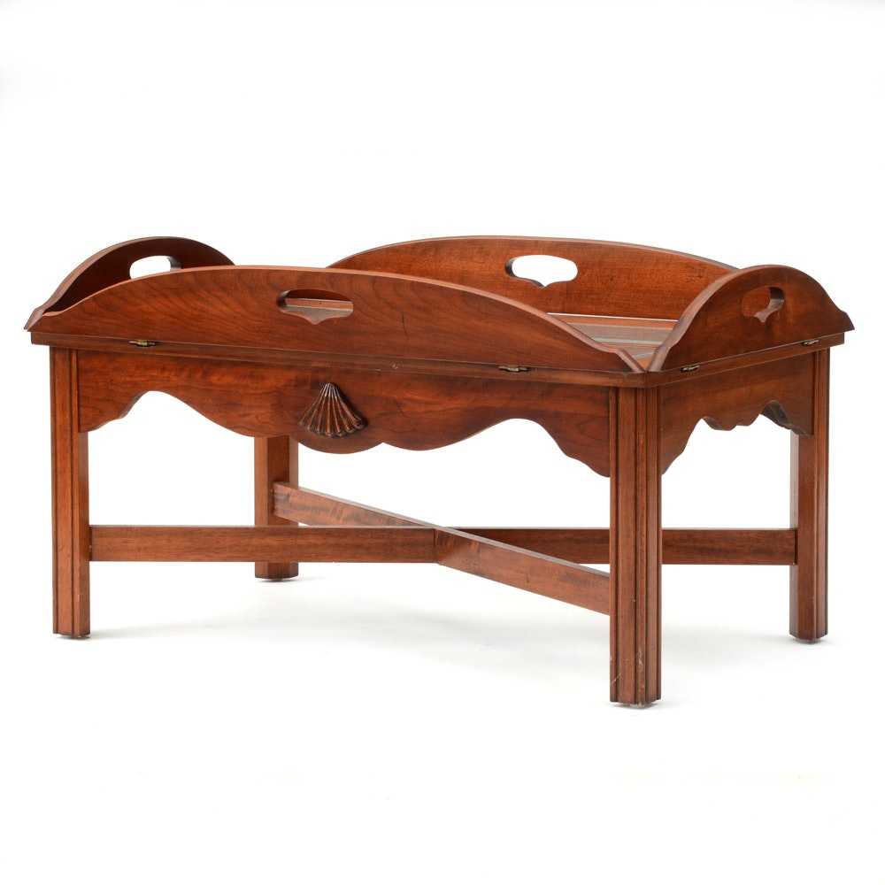 Burlwood Butler's Tray Coffee Table