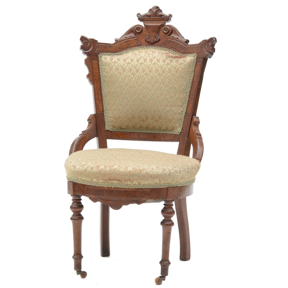 Victorian Upholstered Side Chair