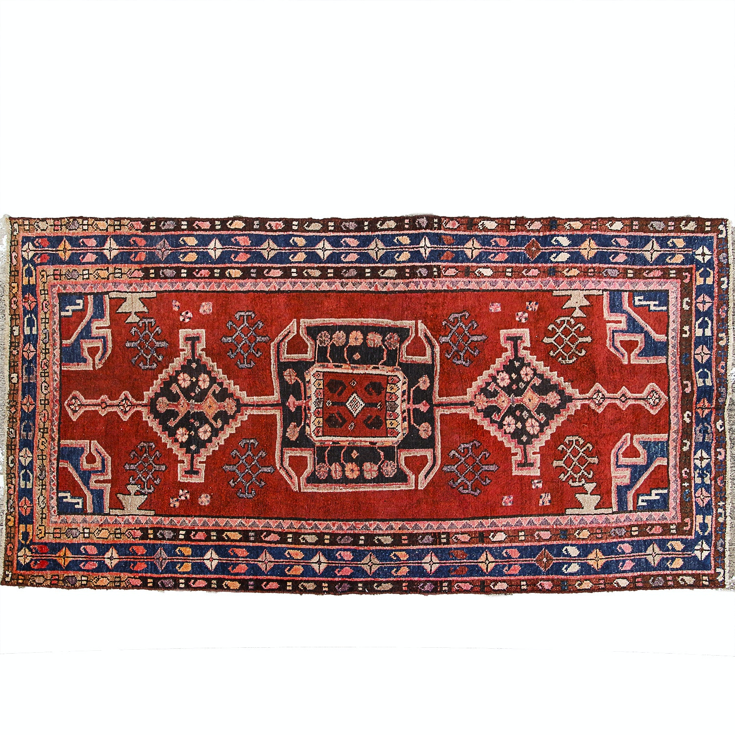 Semi Antique Persian Karajeh Heriz Rug