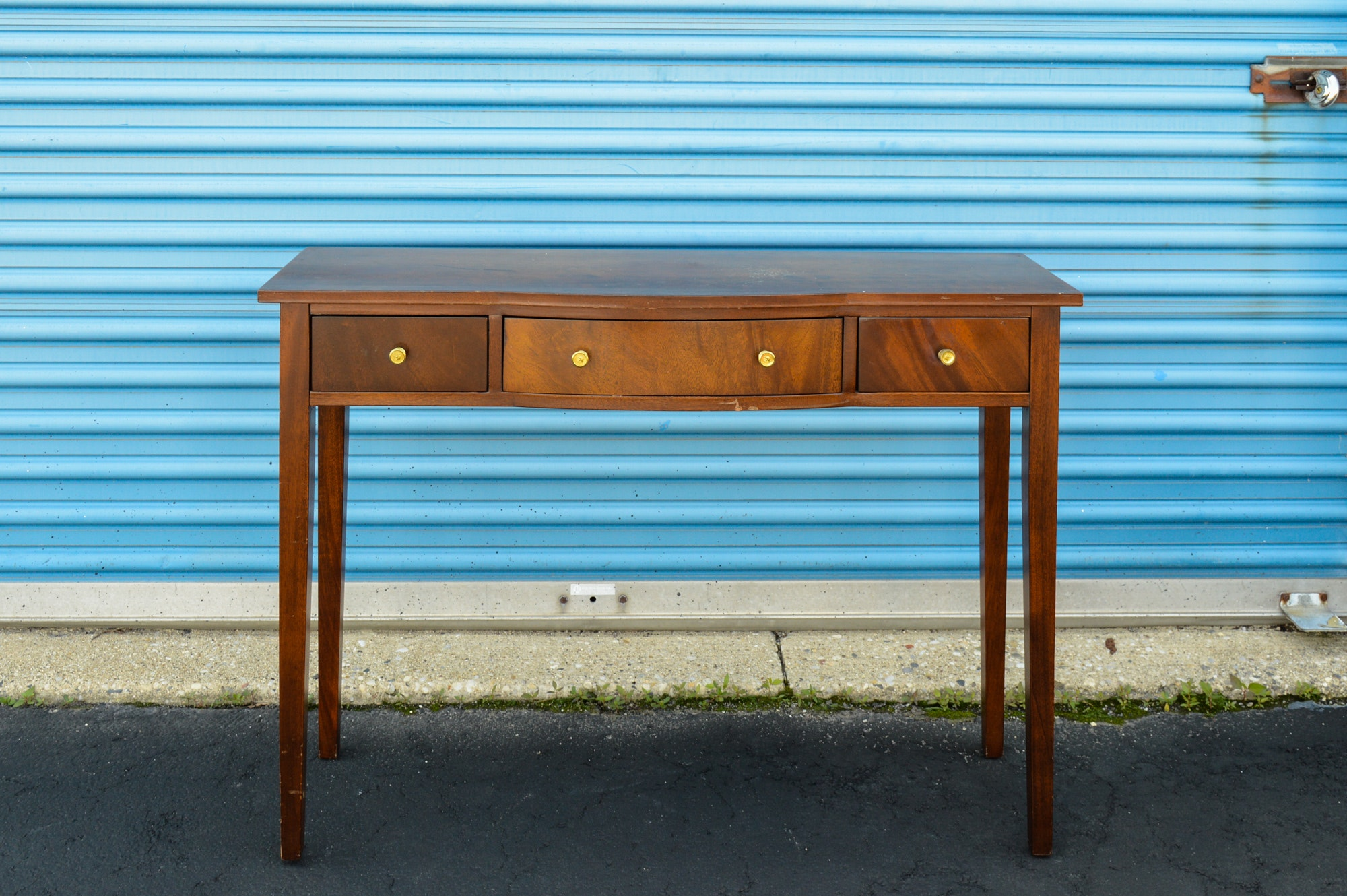 Hepplewhite Style Mahogany Console Table With Drawer