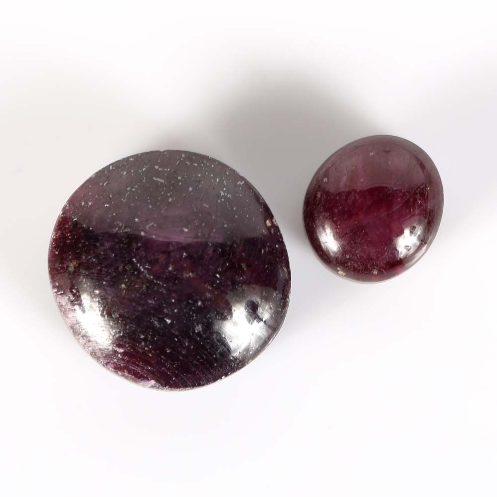 Two Loose Star Rubies