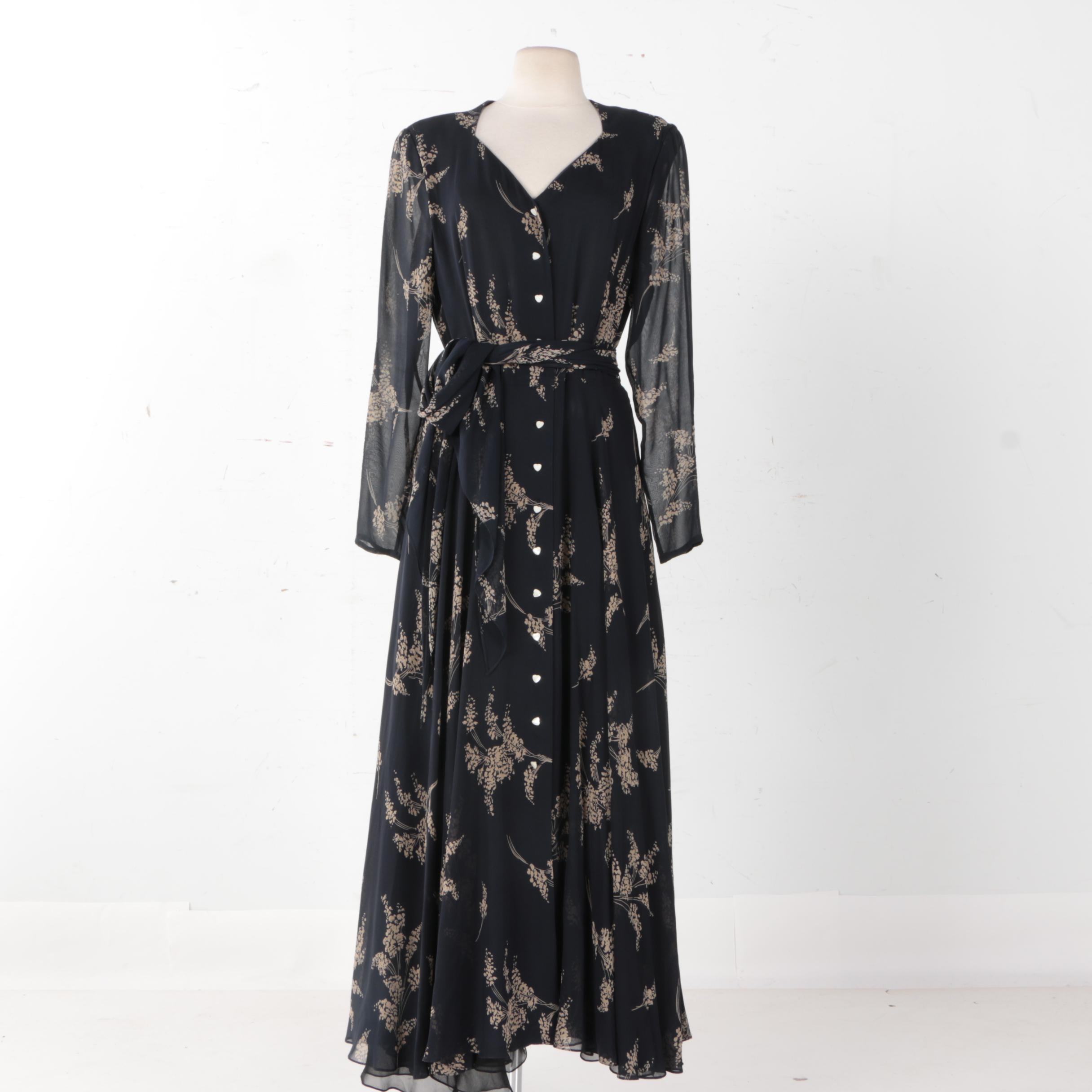 Dana Buchman Silk Dress  With Oleg Cassini Silk Skirt