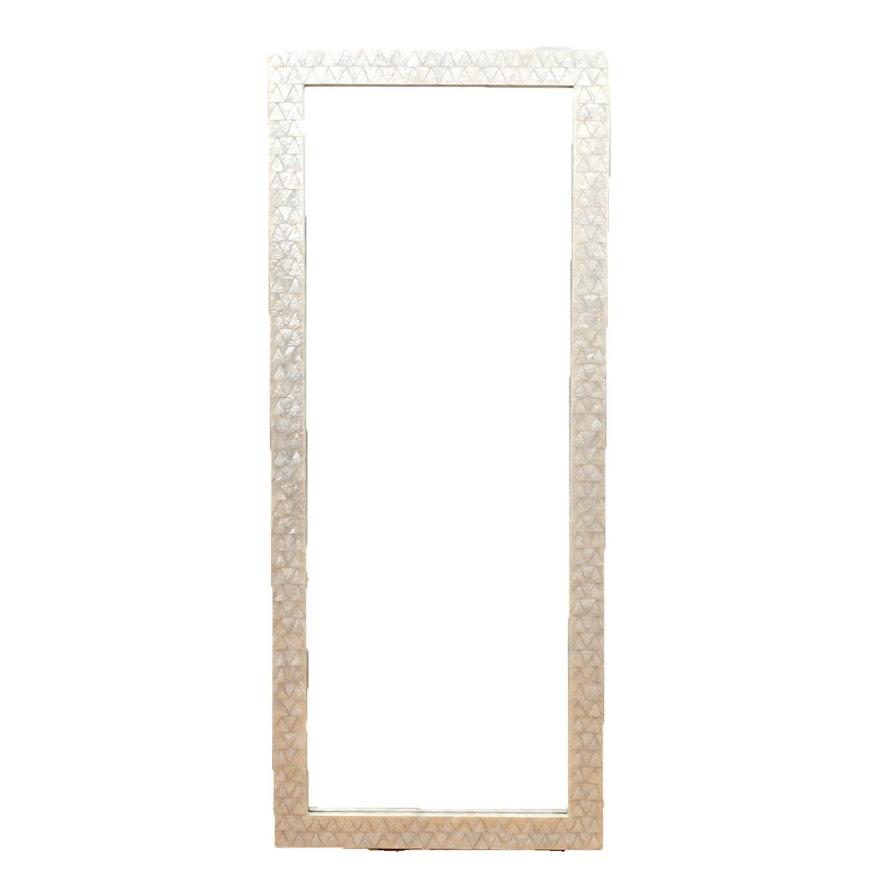 West Elm Mother Of Pearl Framed Floor Mirror Ebth