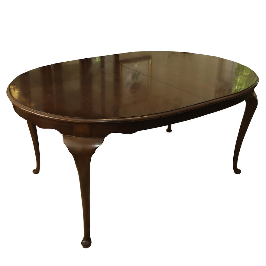 Queen Anne Style Carlton Cherry Dining Table By Drexel Heritage