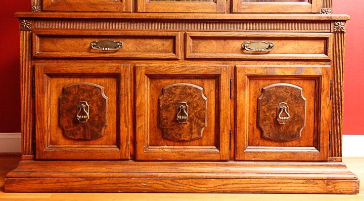 Oak China Cabinet by Keller | EBTH