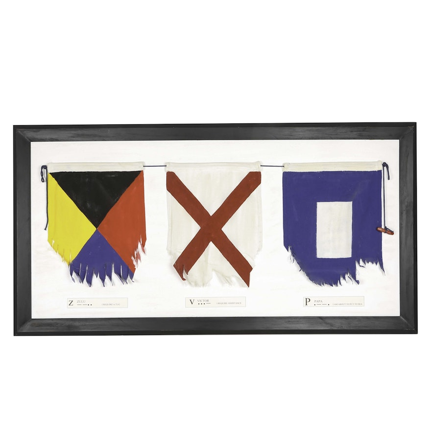 Framed Reproduction Sailing Flags : EBTH