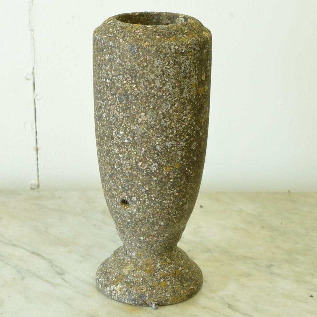 Vintage Outdoor Concrete Vase