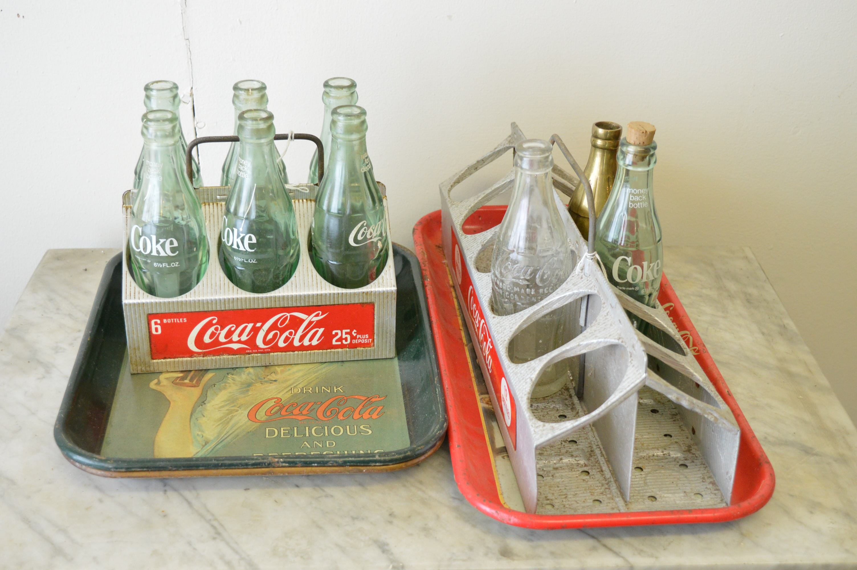 Coca Cola Bottles And Trays Ebth