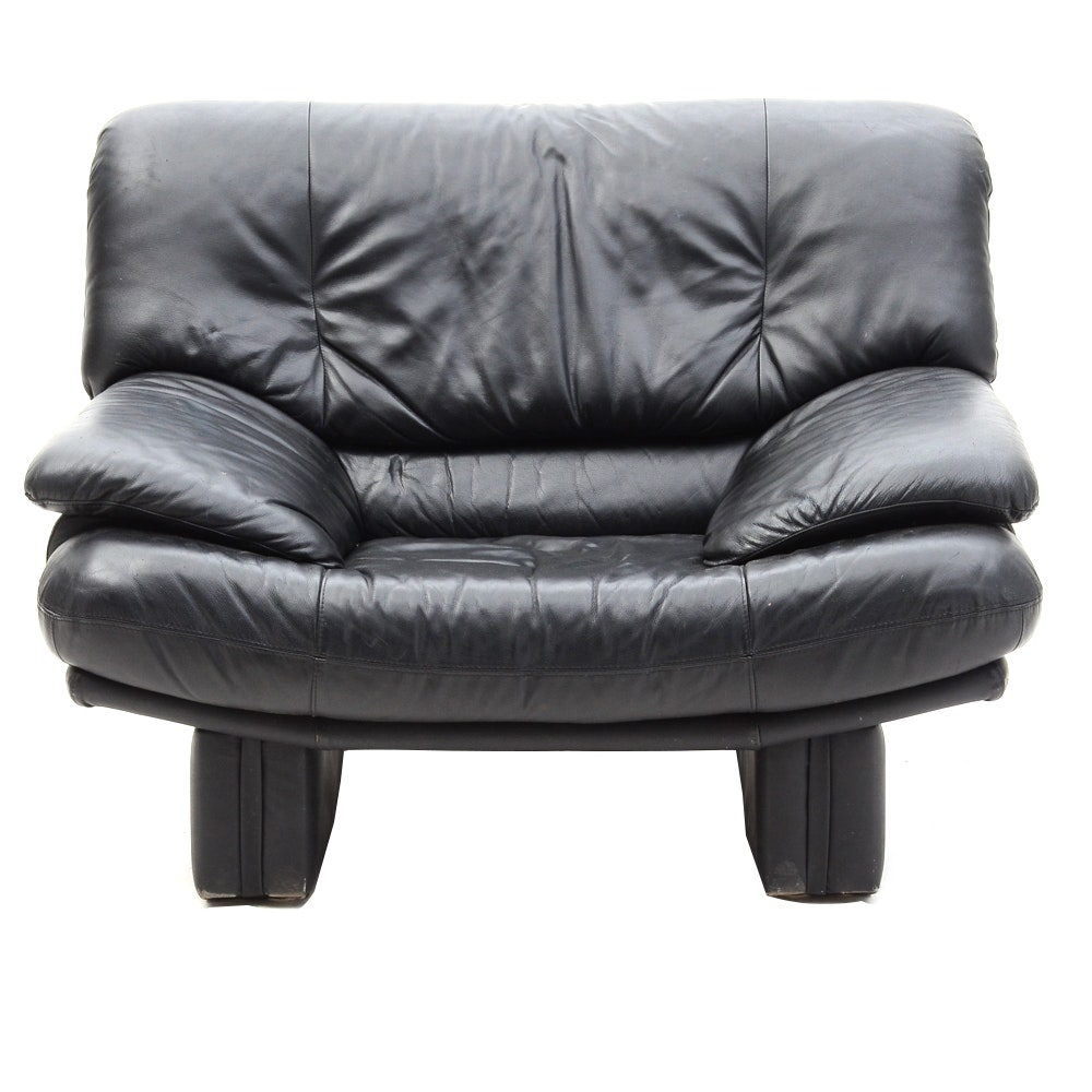 Black Vinyl Armchair