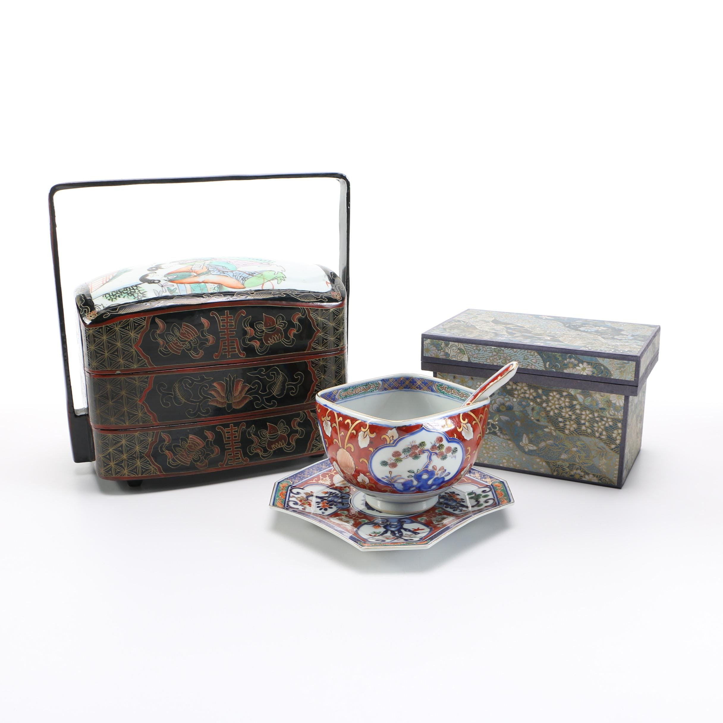 East Asian Boxes and Ceramic Decor