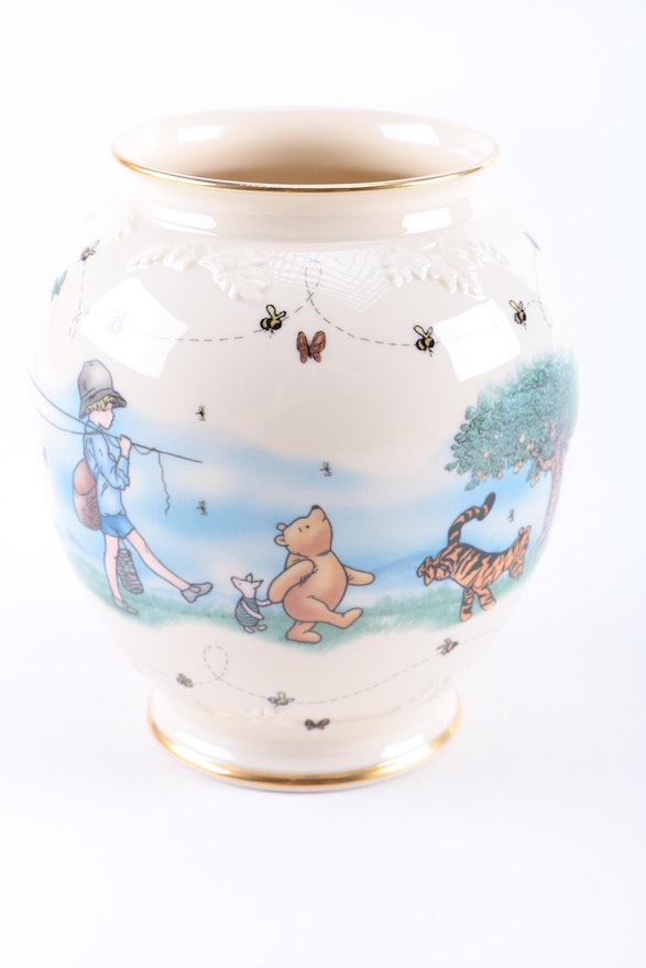 Winnie The Pooh Vase And Platter By Lenox Ebth