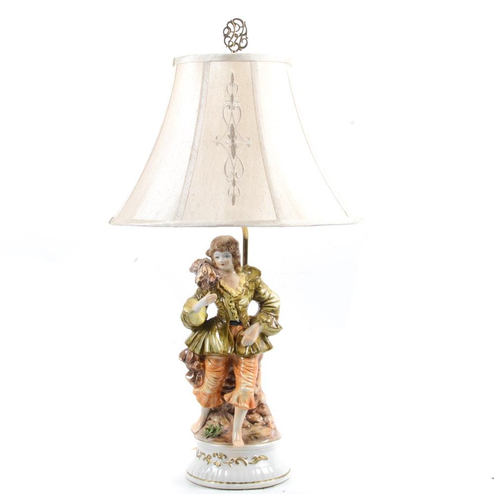 Capodimonte Style Table Lamp
