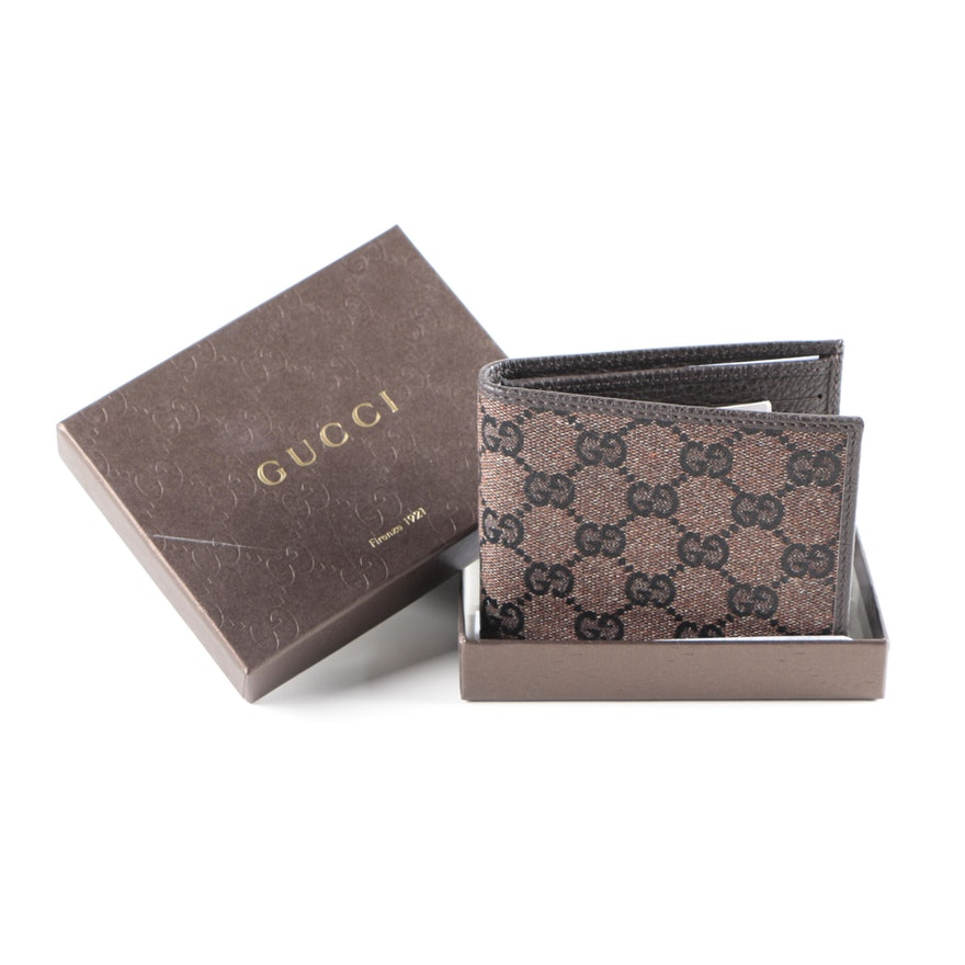 c80b283cbe7e Gucci Monogrammed Print Wallet With Gift Box : EBTH