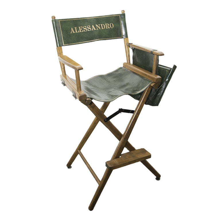 Green Vinyl Director's Chair
