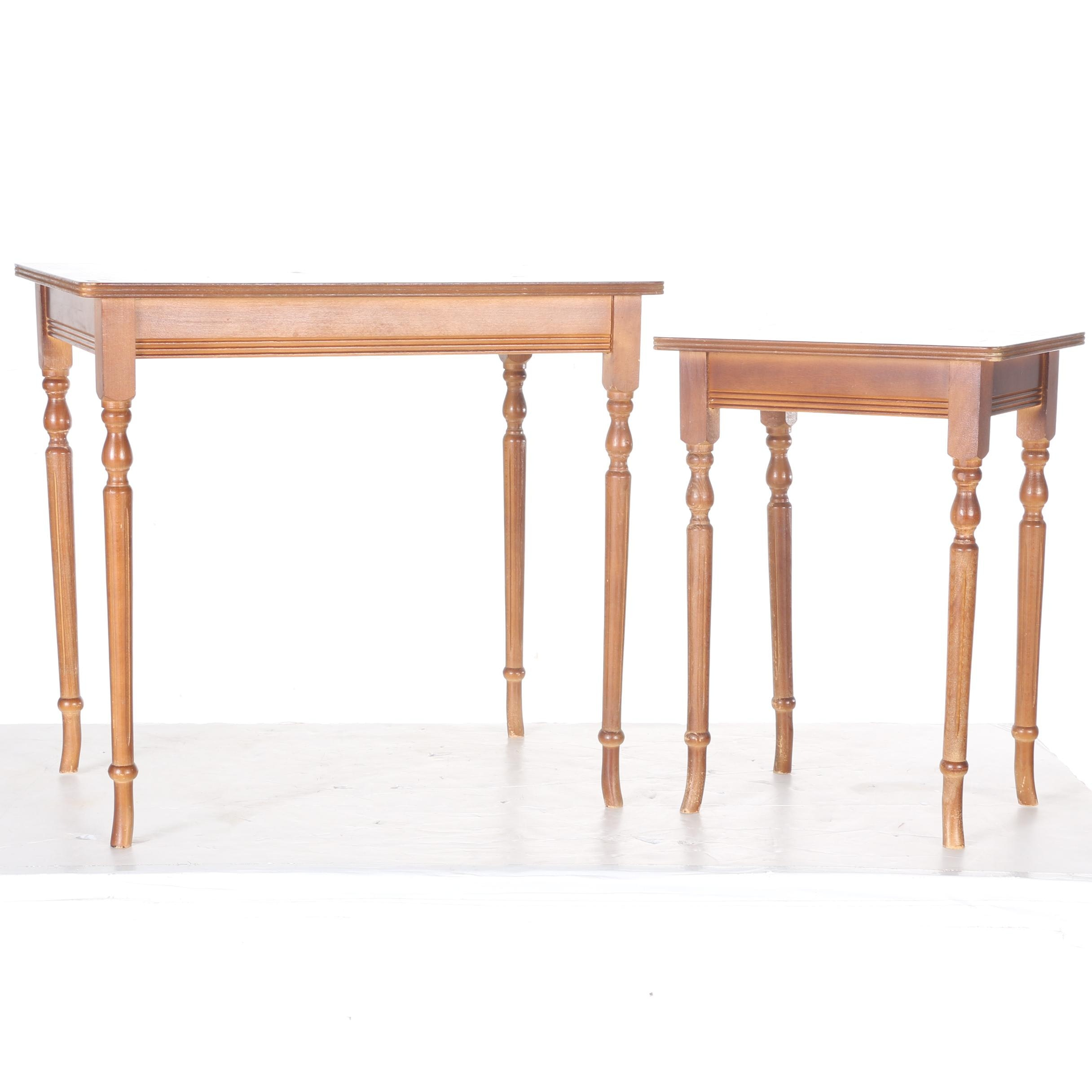 Vintage Mahogany-Stained Nesting Tables