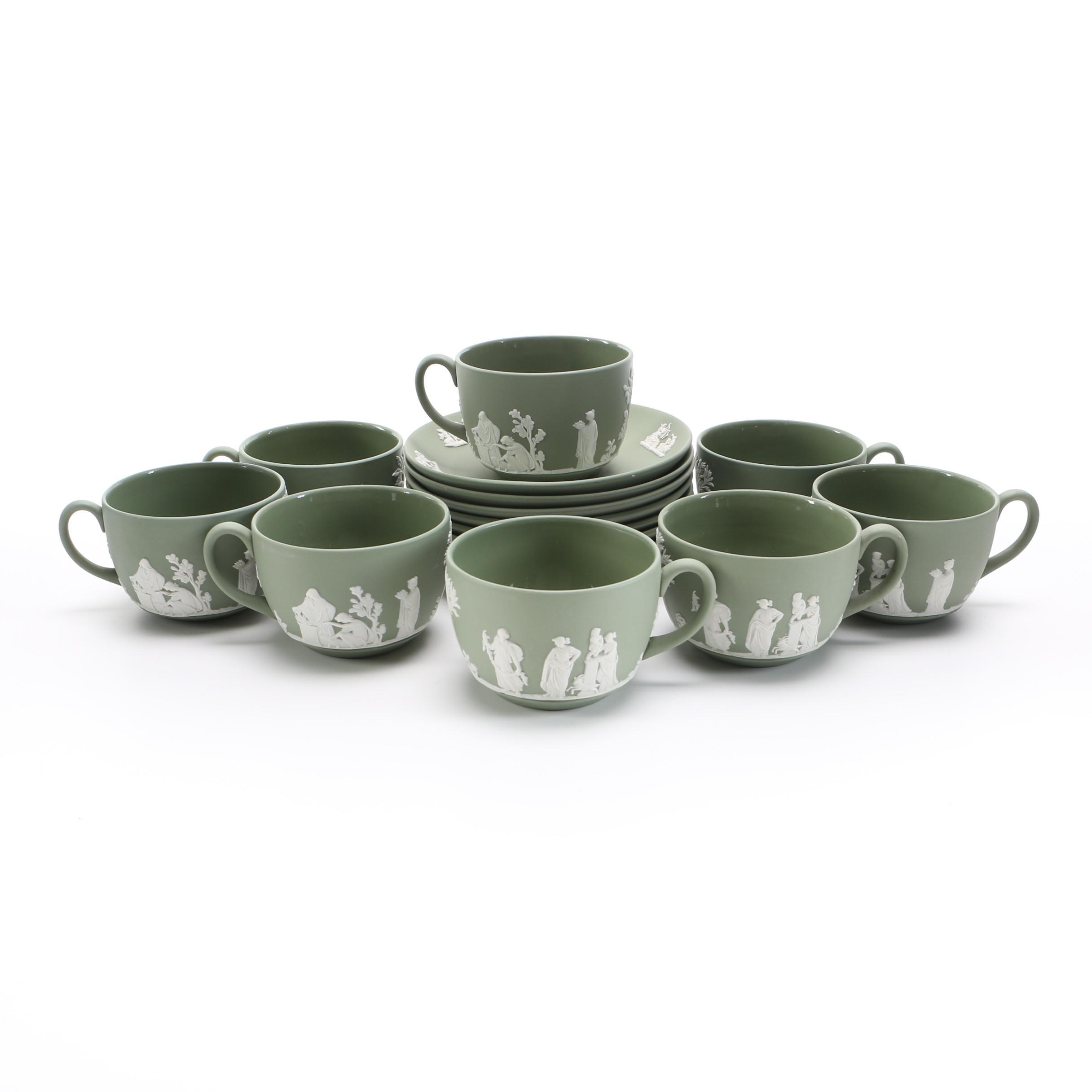 Wedgwood Green Jasperware Tea Set