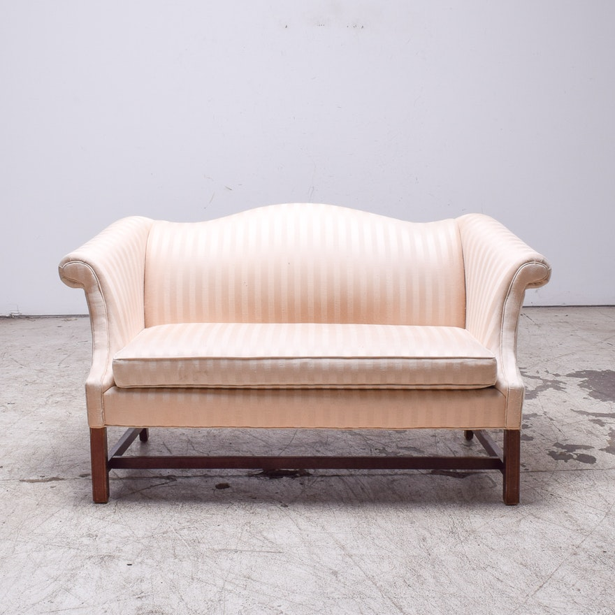 ec9748cb3f00b Vintage Chippendale Style Camelback Sofa   EBTH