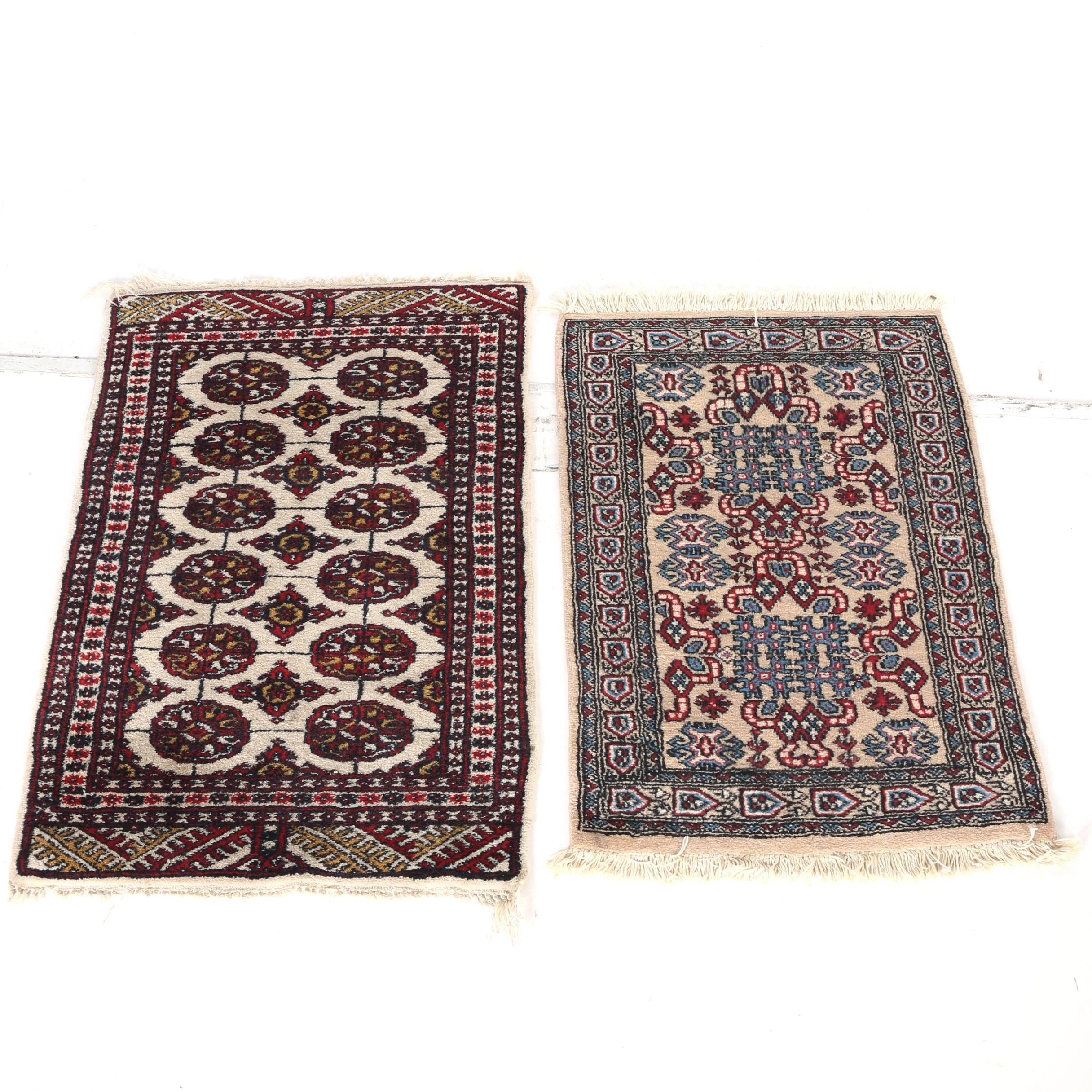 Hand-Knotted Indo-Bokhara and Indo-Turkmen Accent Rugs