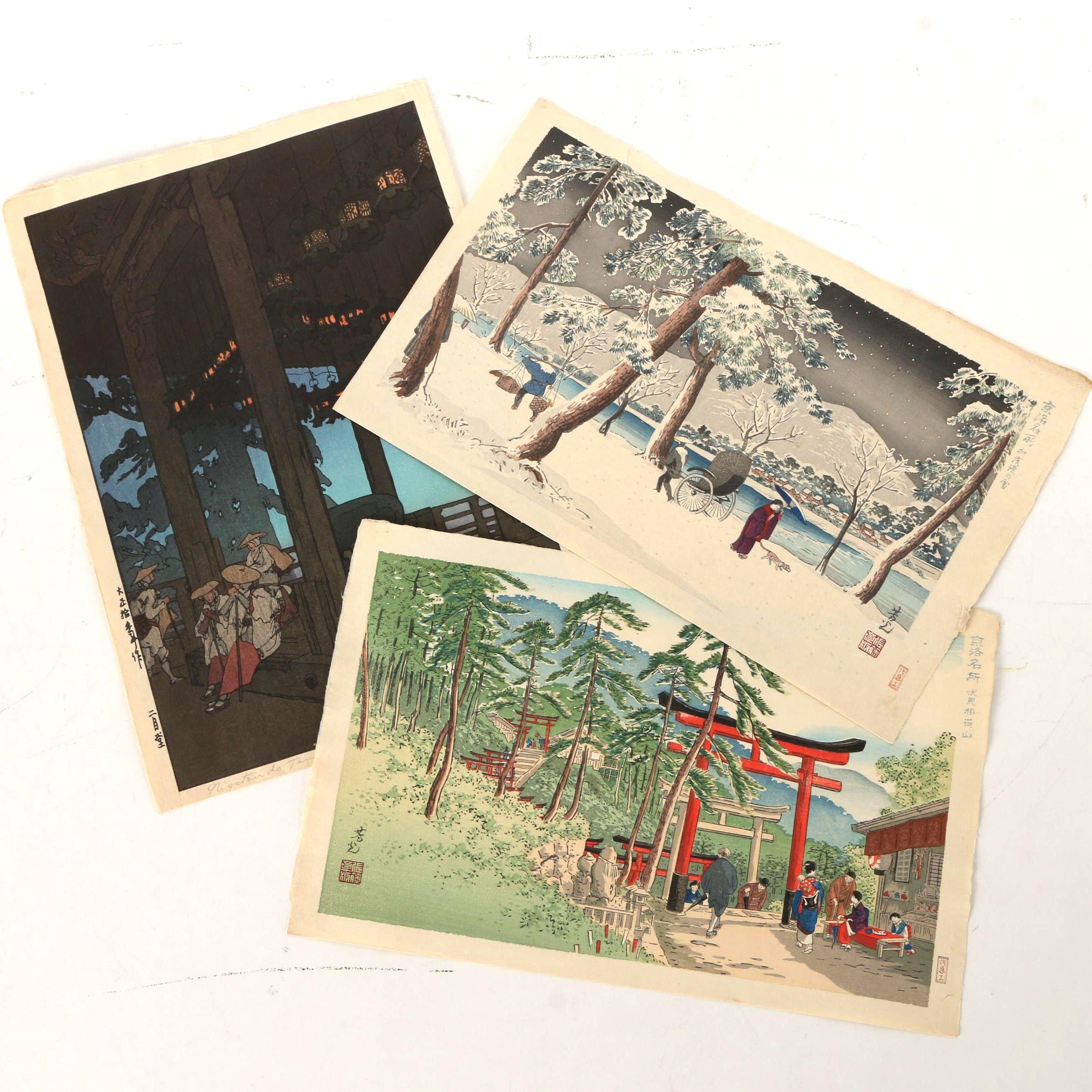 Nomura Yoshimitsu and Yoshida Hiroshi Japanese Shin-hanga Woodblock Prints