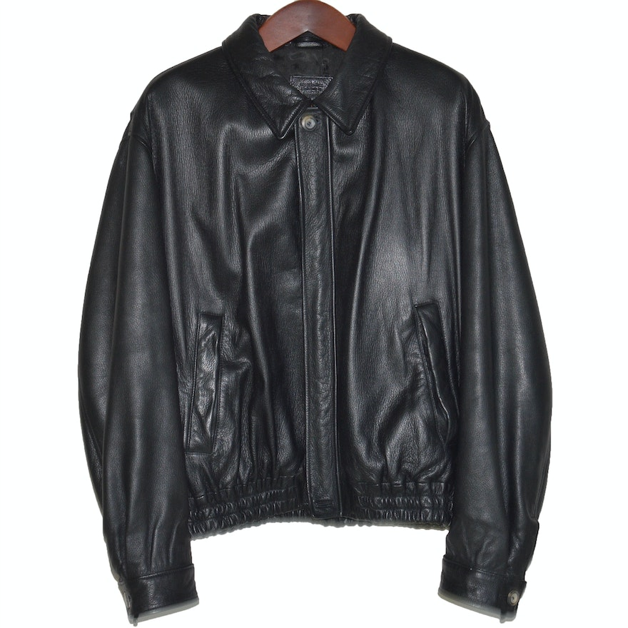 Mercedes benz leather jacket by bally ebth for Mercedes benz leather jacket
