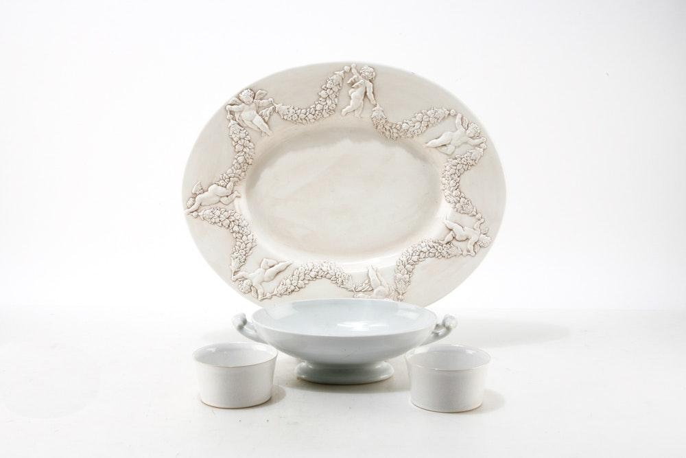 Cream Tone Ceramic Serveware