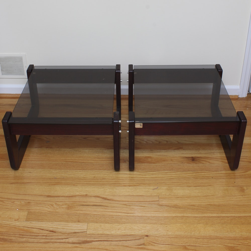 Circa 1970s Brazilian Rosewood End Tables by Percival Lafer