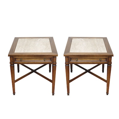 Pair of Sheraton Style Side Tables from Fine Furniture by Gordon's Inc.