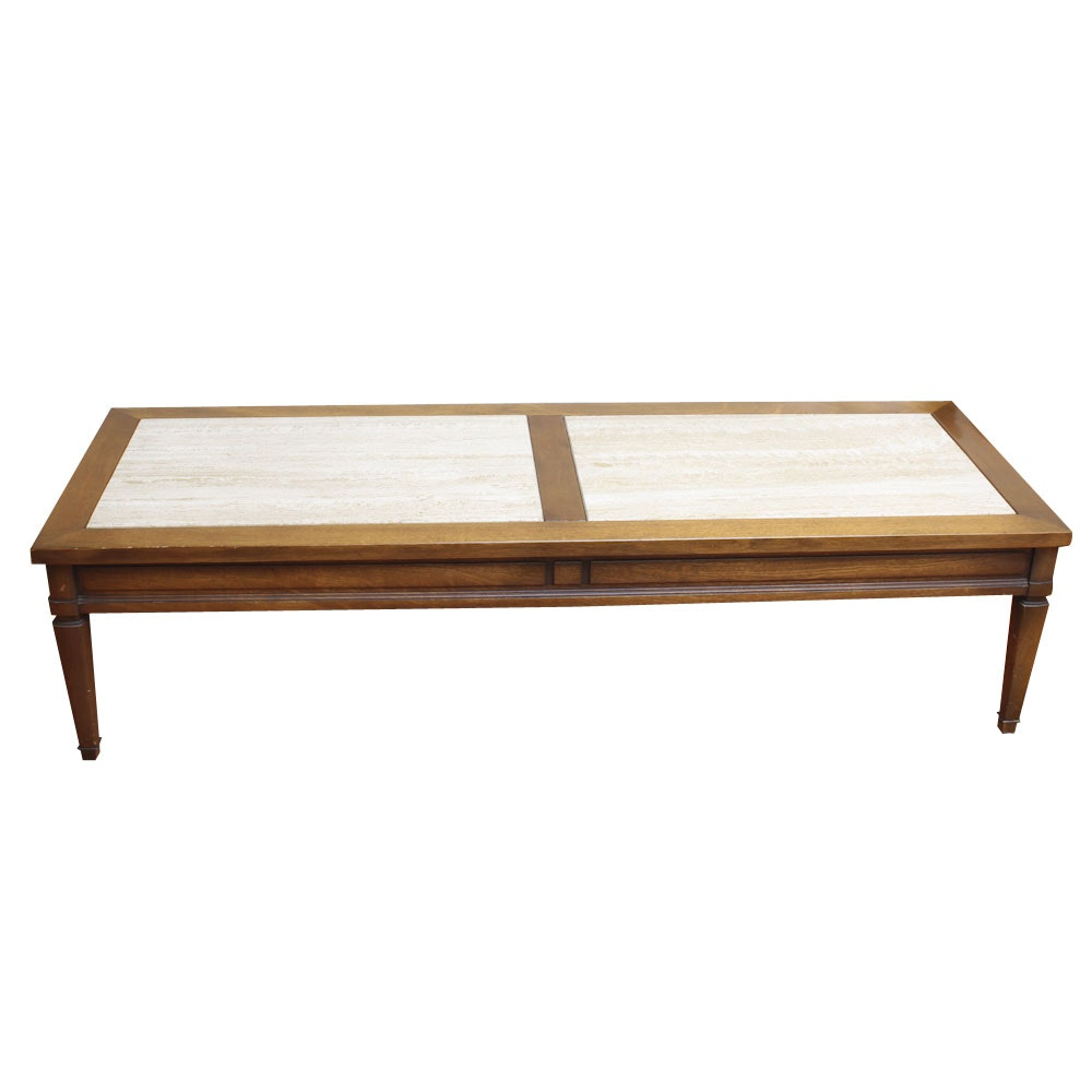 French Provincial Style Walnut Coffee Table