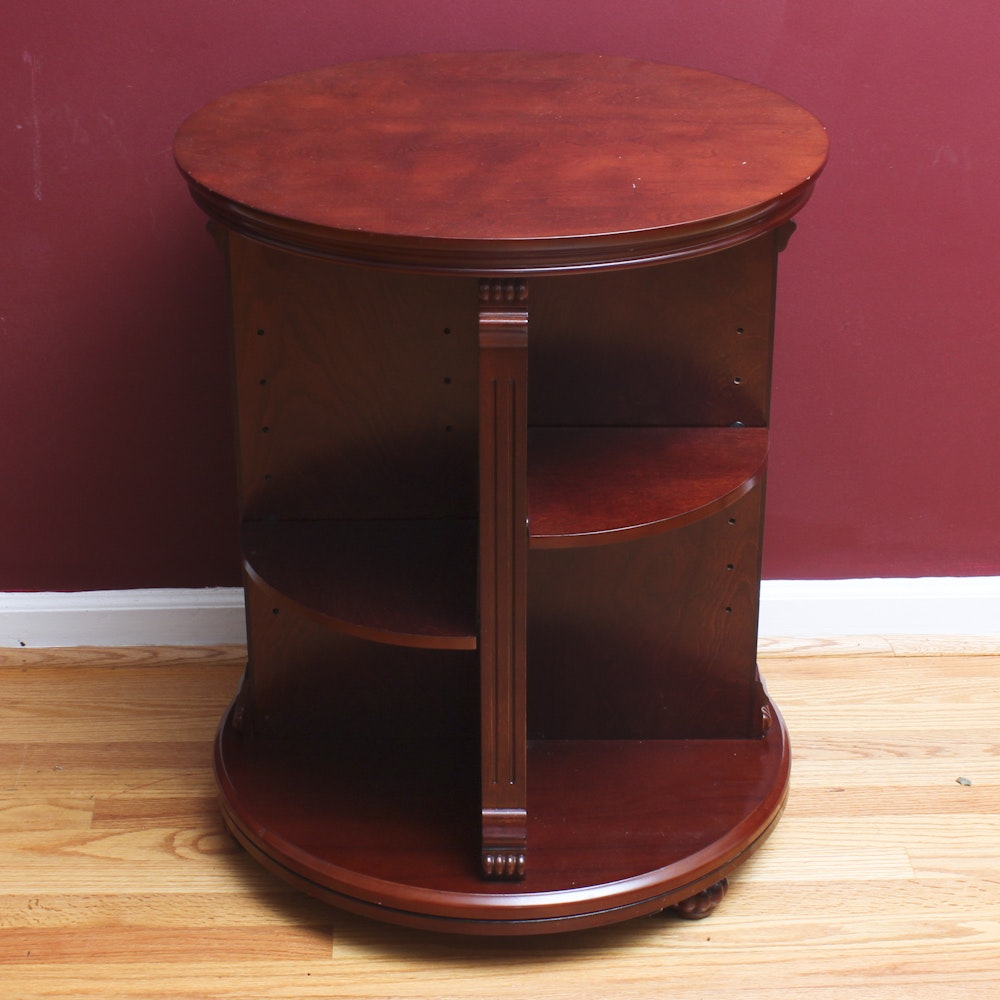 Mahogany Stained Rotating Stand
