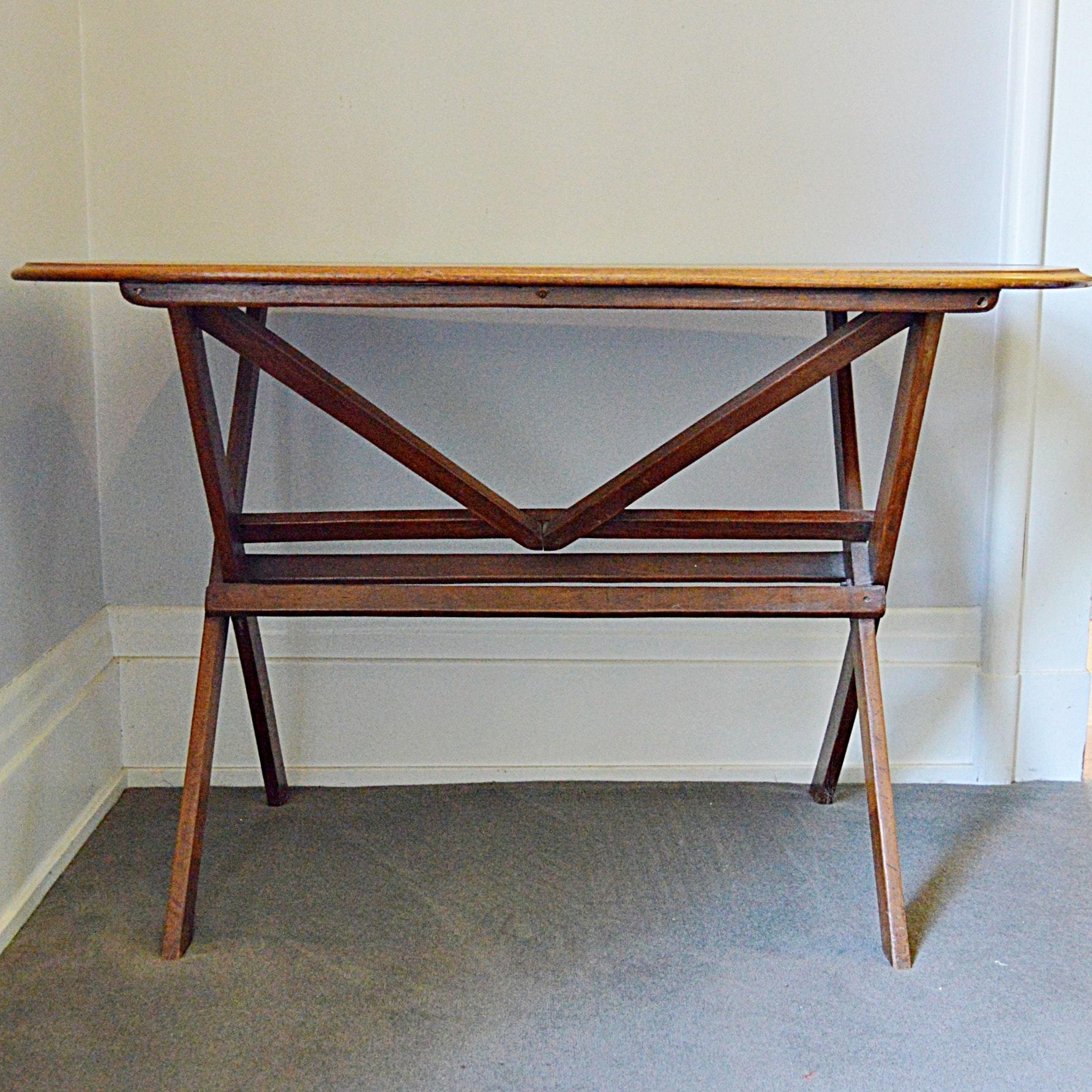 Antique Walnut Work Table