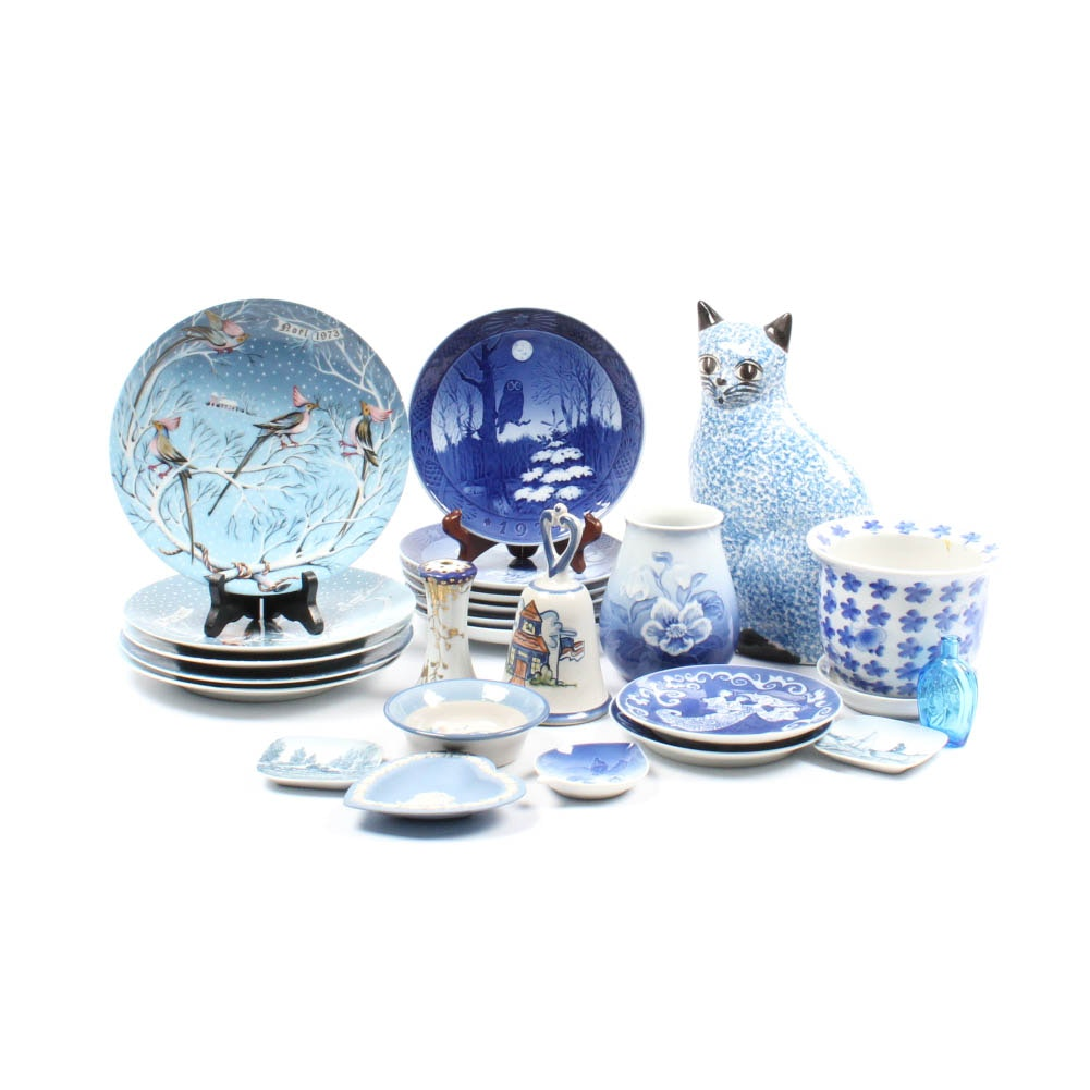 Blue and White Ceramics Featuring M.A. Hadley