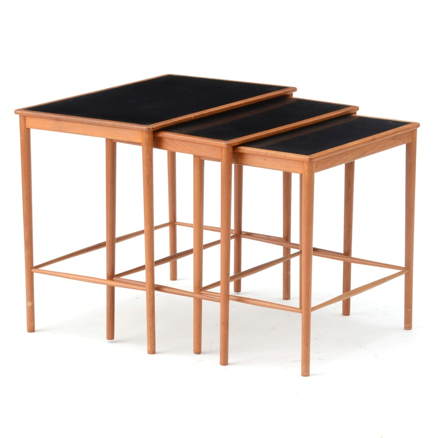 Danish Modern Teak Nesting Tables by Poul Jeppesen