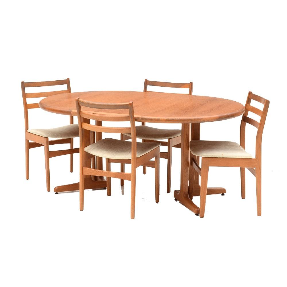 Danish Modern Style Teak Dining Set by Nordic Furniture