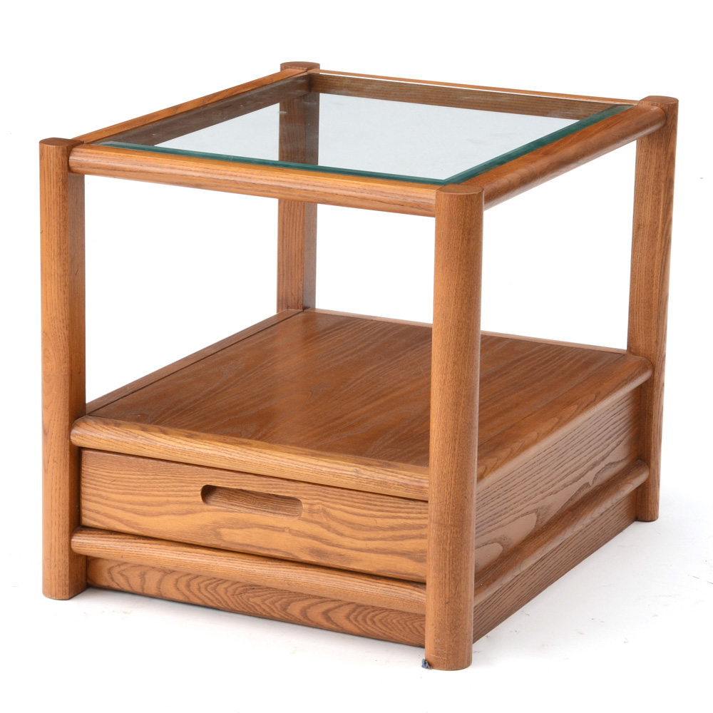 Nordica Walnut End Table By Thomasville Furniture EBTH