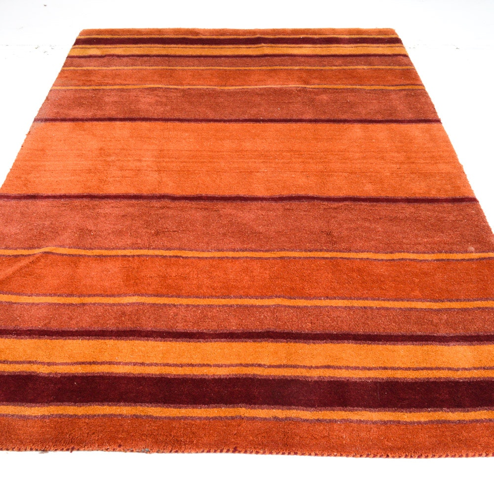 Hand-tufted Indo-Persian Gabbeh Mid-century Style Rug