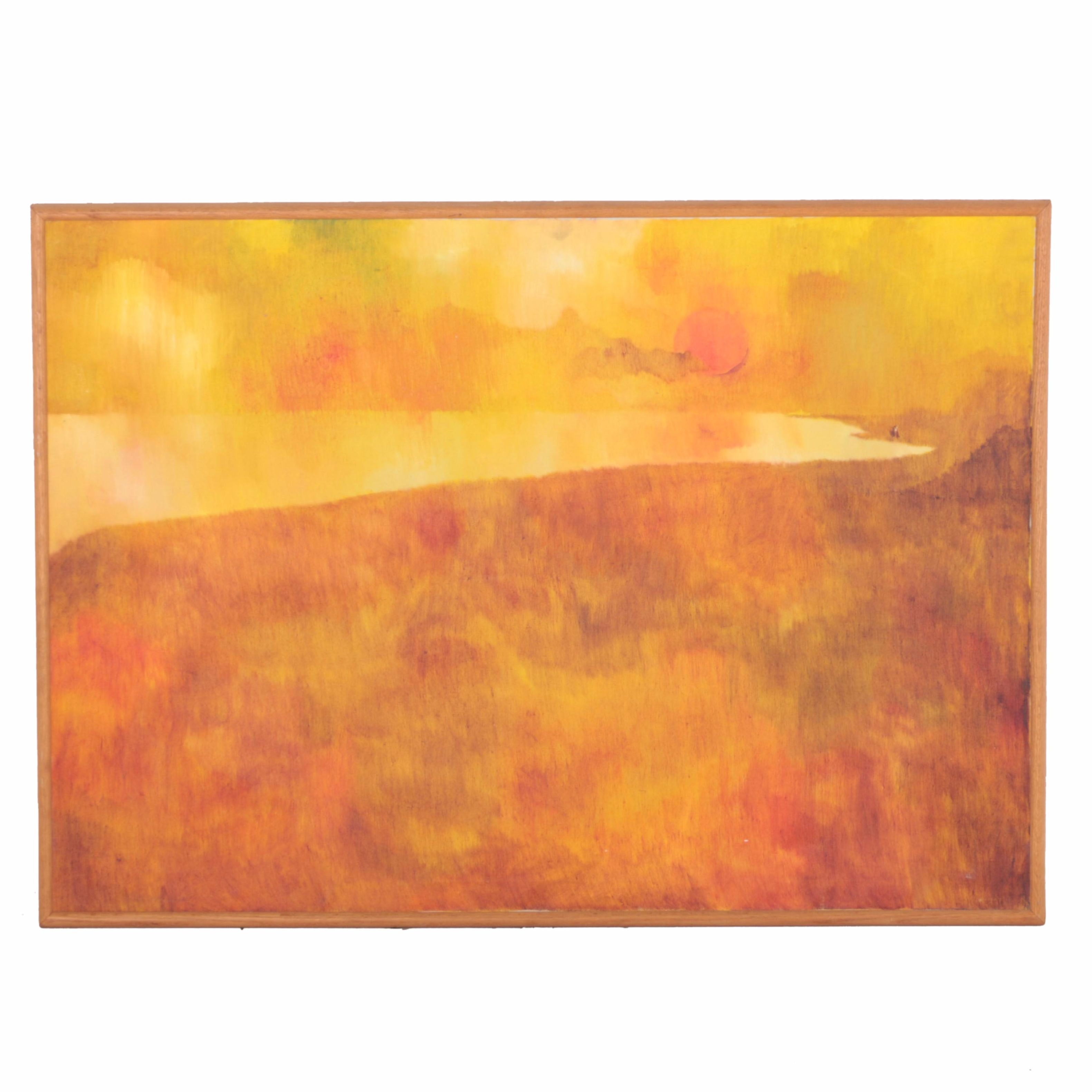 Oil Painting of a Yellow Landscape