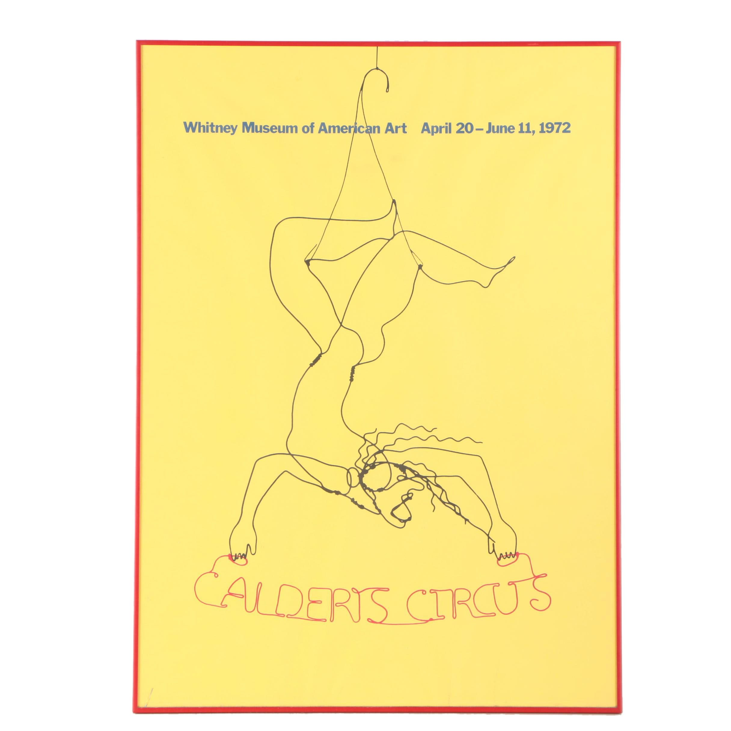 "1972 Whitney Museum of Art ""Calder's Circus"" Poster"