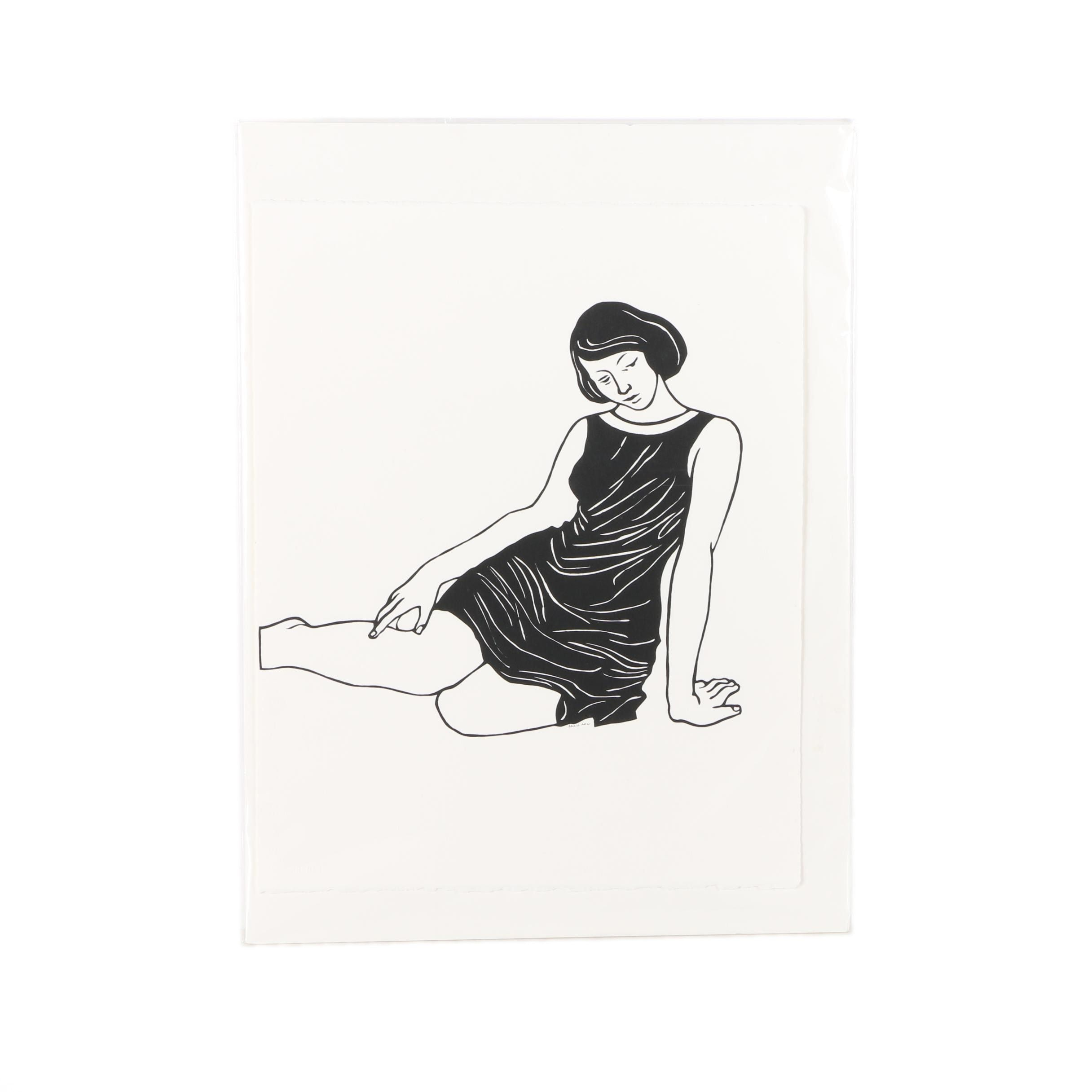Ella Richards Scissor Drawing of a Female Figure