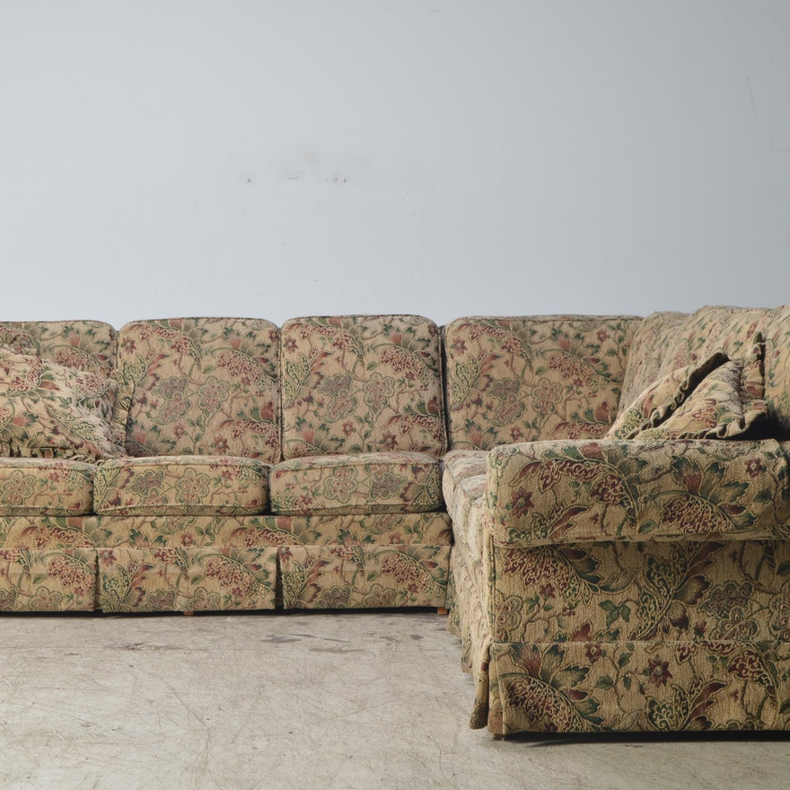 Jetton Furniture Inc Tapestry Upholstered Three Piece Sectional Sofa