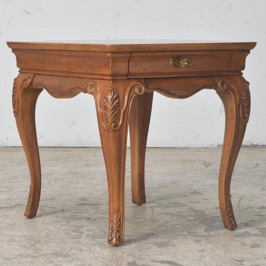 Thomasville Oval Coffee Table: Thomasville Oak End Table