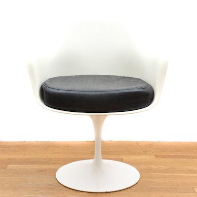 Heywood Wakefield Style Swivel Chair Ebth