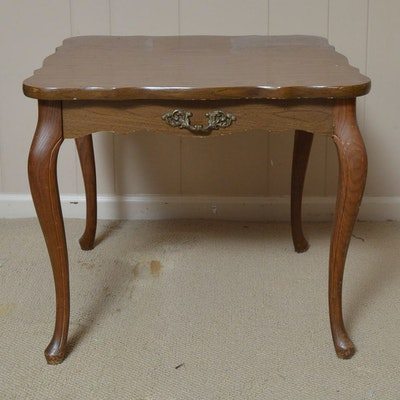 Solid Cherry Wood Queen Anne Style Oval Coffee Table Ebth