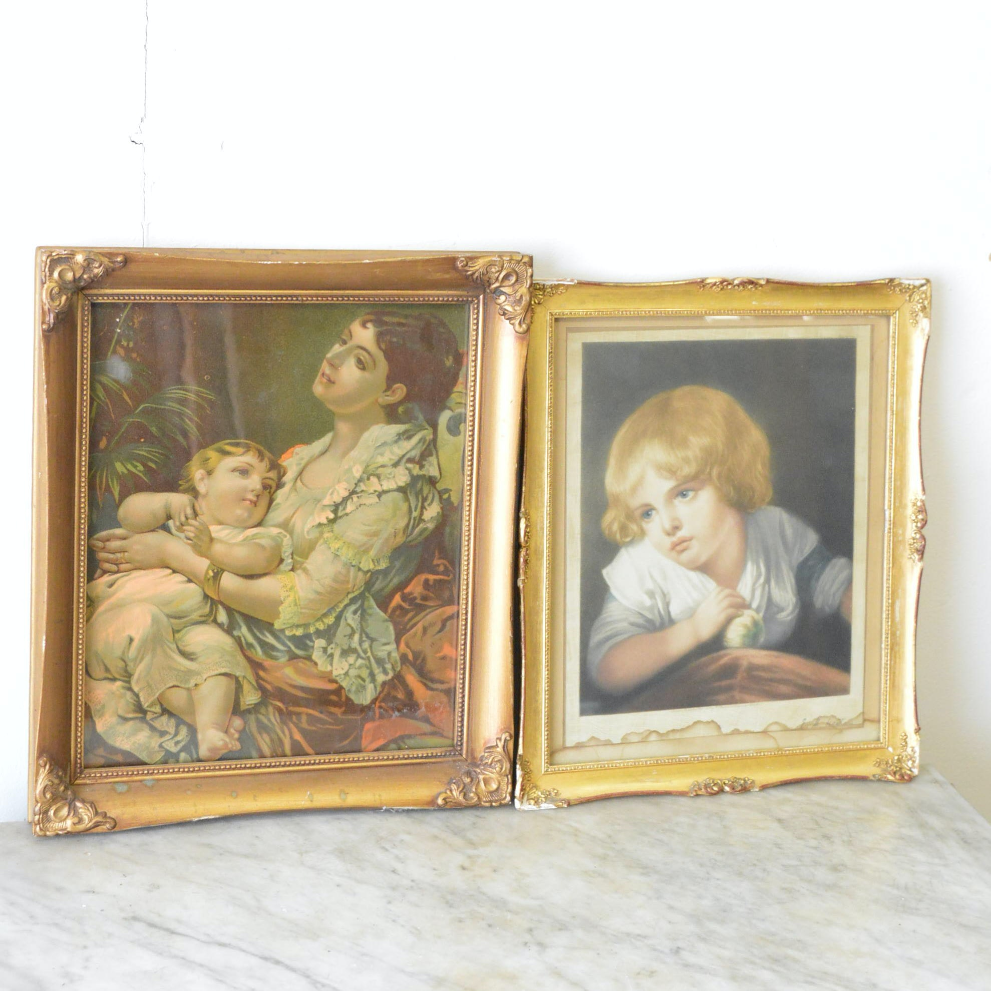 Chromolithographs of Children Featuring a Print by E.H. Hester
