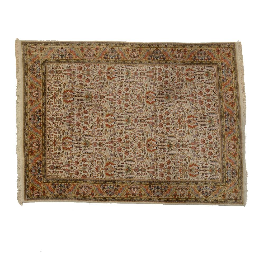 Indo-Persian Tabriz Style Wool Area Rug