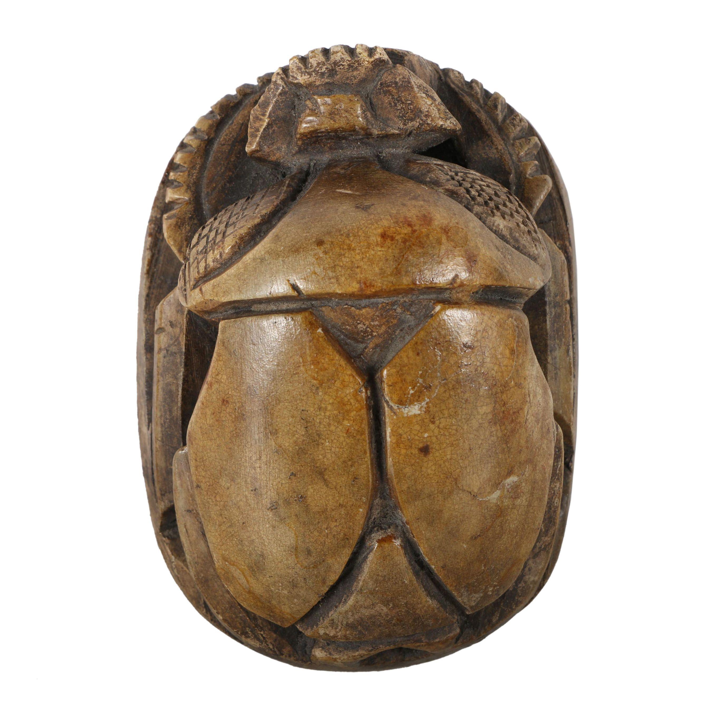 Egyptian Style Ceramic Scarab Beetle
