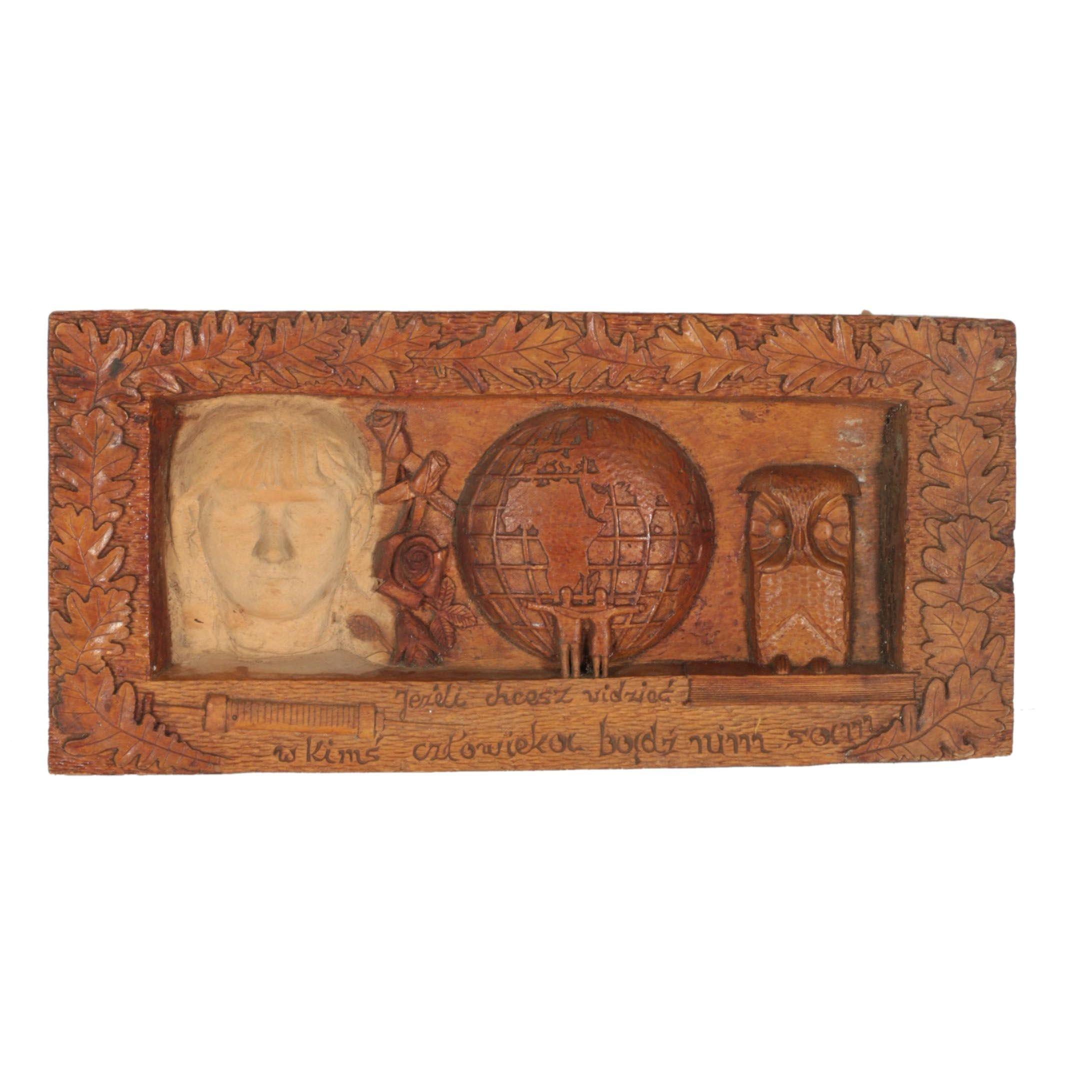 Polish Carved Wooden Folk Art