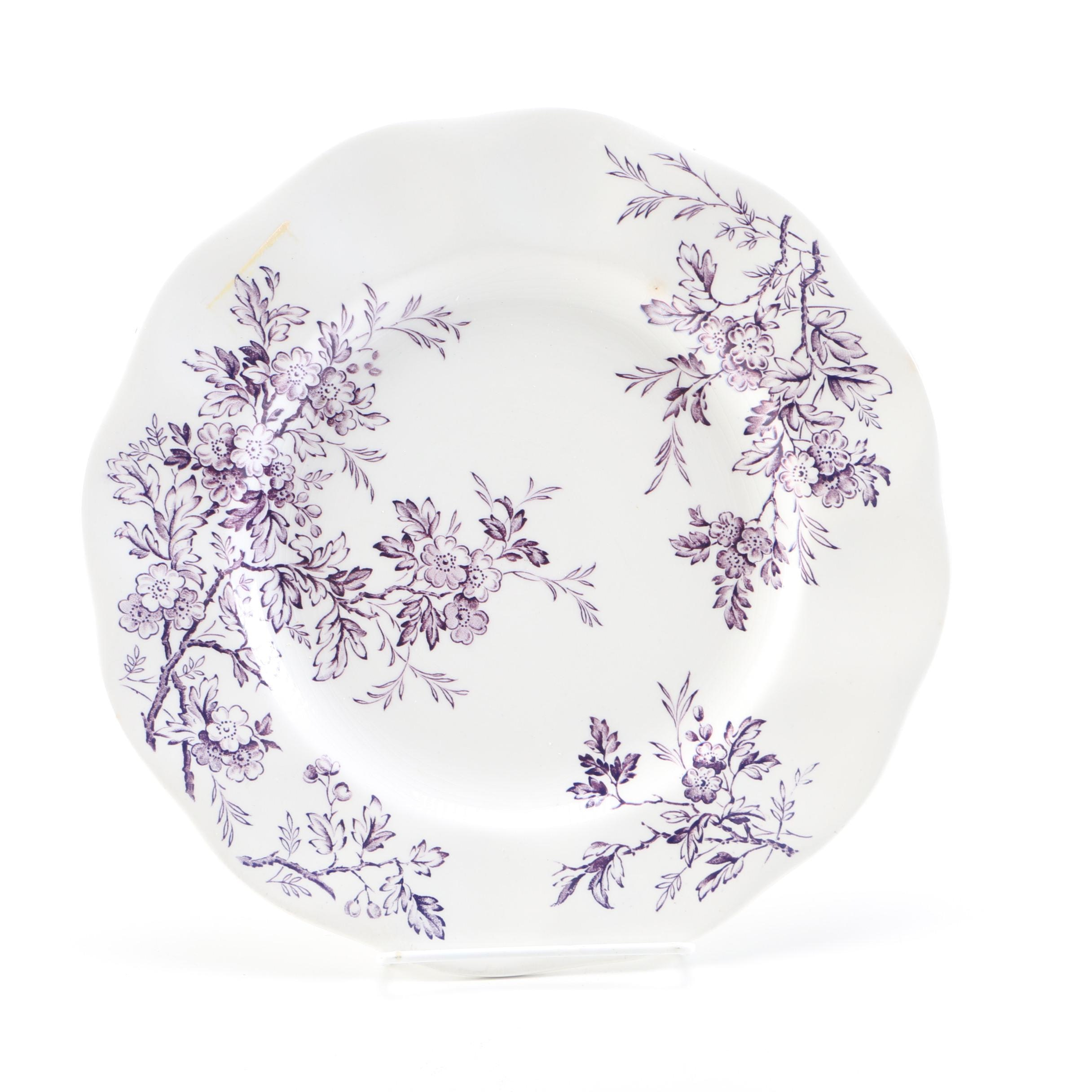 "Wedgwood & Co Ltd ""Springtime"" Porcelain Plate"